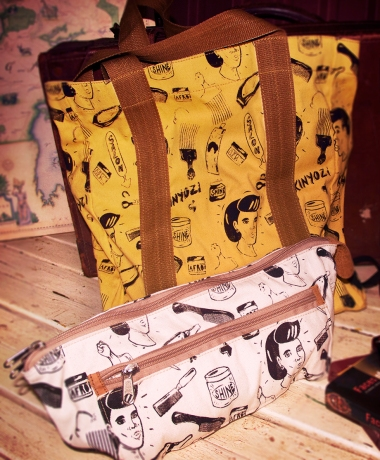 ChilliMango Kinyozi Print tote bags and pouches